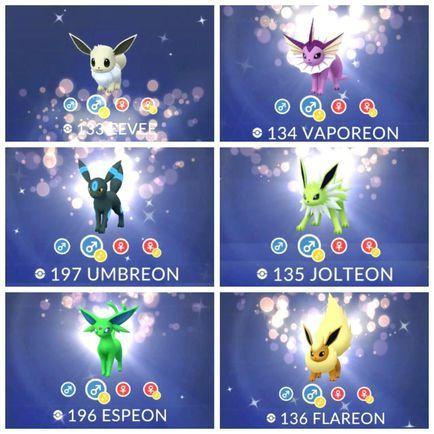Pokemon Go Community Day How To Get Yourself Every Shiny Eevee Evolution Shiny Eevee Evolutions Shiny Eevee Eevee