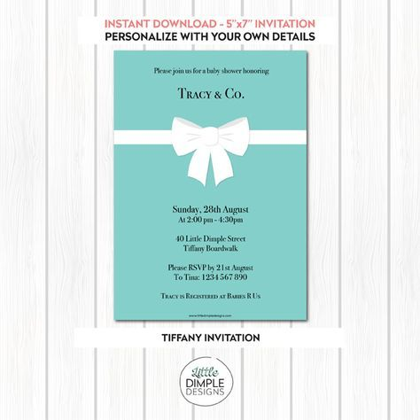 Printable Party Decorations Backdrops Invitations Tiffany Blue Invitations Invitation Template Tiffany Blue Wedding Invitation