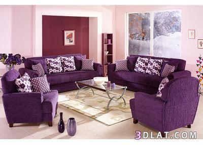 انتريهات فخمة 2018 انتريهات جميلة جدااااااااا 136447076218 Jpg Purple Furniture Purple Living Room Purple Bedrooms