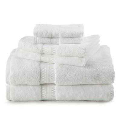 Martex Abundance 6 Piece Towel Set Color Optical White Towel