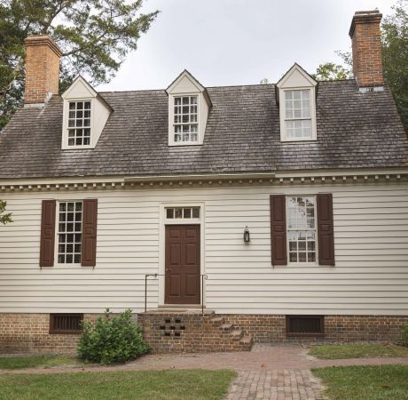 Authentic Colonial Houses In Colonial Williamsburg Va Colonial Garden Colonial House Colonial Williamsburg