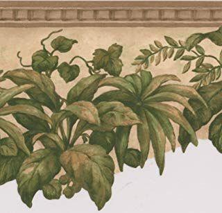 Amazon Com Wall Borders Peel And Stick For Bathroom Tools Home Improvement Botanical Wallpaper Wallpaper Border Floral Wallpaper