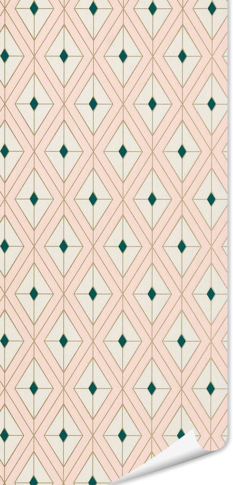 Papier Peint Intisse Nayada By E Rivassoux Coloris Rose Poudre