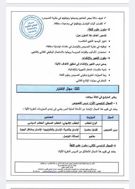 الإطار المرجعي لمادة اللغة العربية Bullet Journal Journal