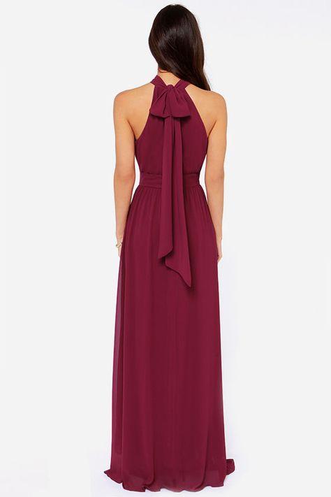 Exclusive Modern Duchess Burgundy Maxi Dress