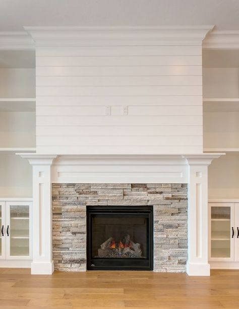 Totally Free Fireplace Tile surround Concepts It is actually winter., Excellent Totally Free Fireplace Tile surround Concepts It is actually winter., Excellent Totally Free Fireplace Tile surround Concepts It is actually winter. White Stone Fireplaces, Stone Fireplace Surround, Rock Fireplaces, White Fireplace, Farmhouse Fireplace, Cozy Fireplace, Living Room With Fireplace, Fireplace Design, My Living Room