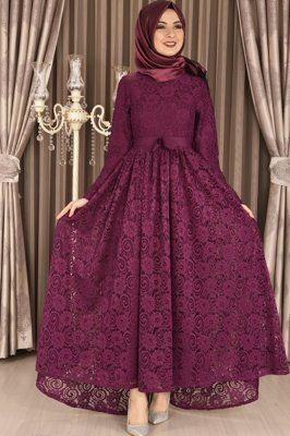 Modamerve Dantel Abiye Elbise Murdum Eng 1585 Aksamustu Giysileri Musluman Modasi Moda Stilleri