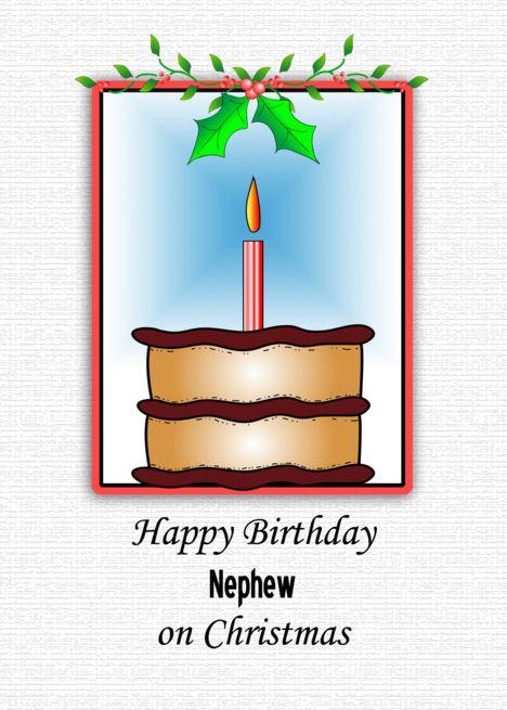 Birthday On Christmas Card For Nephew Card Ad Sponsored Christmas Bir Happy Birthday Cards Printable Birthday Cards For Brother Birthday Greeting Cards