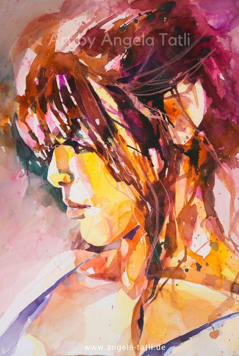 Portrait Expressiv Zeichnen Lernen Portratmalerei