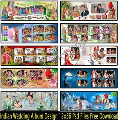 Indian Wedding Album Design 12x36 Psd Files Free Download