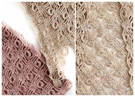 Chal calado denominado Ojo de Dragón a crochet | Patrones, Ojo de ...