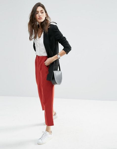 Relaxed Slim Trousers | Fashion Haute Couture | Pinterest