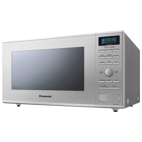 1100 Watt 32l Capacity 10 Power Levels 16 Sensor Cook Functions Lcd Display Stainless Steel Countertop Microwave Stainless Steel Microwave Microwave Oven