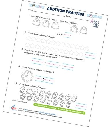Addition Practice Free Printable Teaching Supplies Free