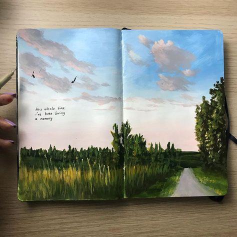Photo by Gizem Bozkurt on January Kunstjournal Inspiration, Art Journal Inspiration, Art Inspo, Bullet Journal Art, Art Journal Pages, Art Journals, Art Sketches, Art Drawings, Arte Sketchbook