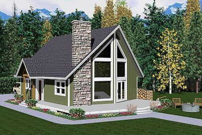 Plan 6745mg Cozy 2 Bedroom Retreat In 2021 A Frame House Plans House Plan With Loft Contemporary House Plans