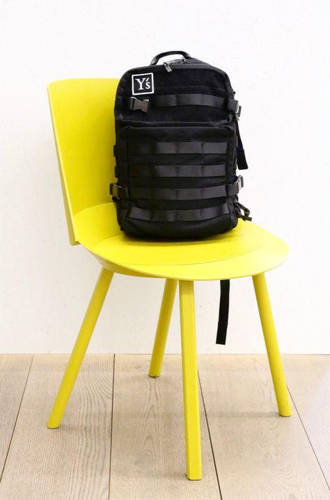 Y's by Yohji Yamamoto rucksack, black textile.