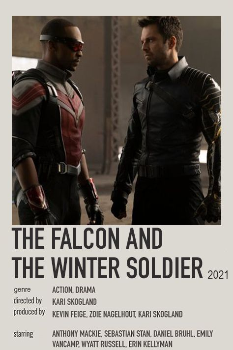 the falcon and the winter soldier (2021) aesthetic movie poster