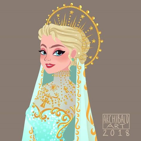 """Greco Archibald en Instagram: """"Here's a little contribution to the recent #METGALA2018. #Elsa in her #metsona #metsona2018 Heavenly Bodies: Fashion and the Catholic…"""""""