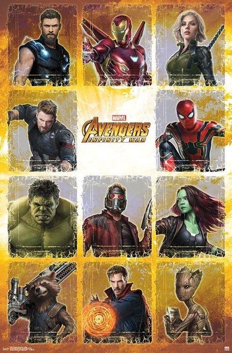 Avengers Infinity War Collage Superheroes Marvel Universo Cinematografico Marvel Arte De Marvel