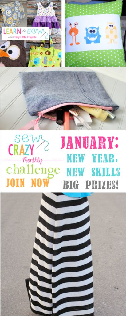 Sew Crazy Challenge-Sew projects, Learn new Skills, win great prizes!