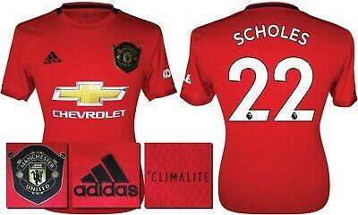 SCHOLES 22 - 19/20 ADIDAS MAN UTD HOME SHIRT = KIDS SIZE #fashion #sports #memorabilia #footballshirts #englishclubs (ebay link)