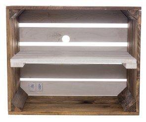 Used Regal Apfelkiste Geflammte Optik Weisser Boden 50x40x30cm 50x40x30cm Apfelkiste Boden Geflammte In 2020 Wooden Boxes Old Wooden Boxes Shoe Rack With Shelf