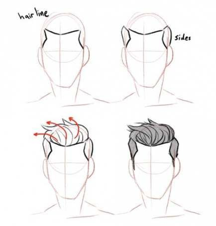 Trendy Hair Drawing Male Hairstyles 35 Ideas Drawing Hairstyles Ideas Trendy New Drawing Hair Tutorial How To Draw Hair Guy Drawing