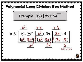Polynomial Long Division Box Method Poster With Images