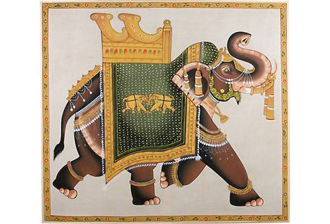 Indian hand painted wall hanging