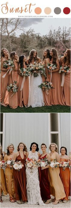 sunset orange fall w sunset orange fall wedding color ideas - fall wedding bouquets orange wedding cakes orange wedding arches #weddings #weddingideas #weddingcolors #fallweddings #orange #weddingcolorideas