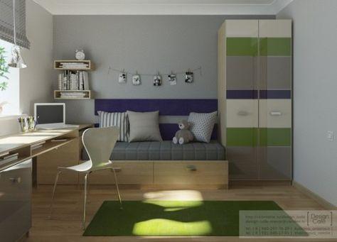 Habitacion juvenil verde 1 500x360 habitaciones juveniles for Habitaciones juveniles economicas
