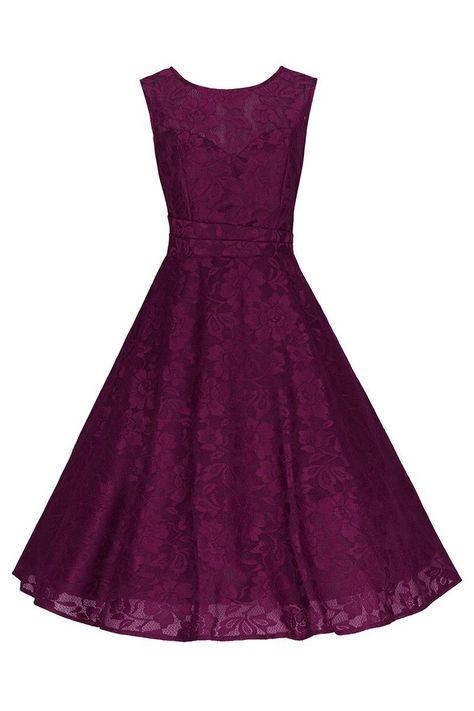 Dresstells Womens Tea Dress Floral Lace Off Shoulder Vintage Bridesmaid Cocktail Dress Navy L