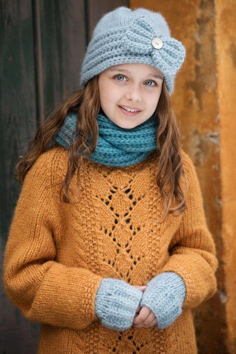 Winter carnival sett (M) Genserlue   hjemmestrikk