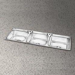 Elkay Lustertone 54 L X 22 W Triple Basin Drop In Kitchen Sink Kitchen Sink Drop In Kitchen Sink Double Kitchen Sink