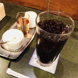 珈琲苑 アイスコーヒー ホイップクリーム ミルク ガムシロップ付き グルメ 軽食 ホイップクリーム