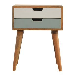 Bedside Tables Cabinets You Ll Love Wayfair Co Uk Painted Drawers Hand Painted Bedside Table Bedside Table