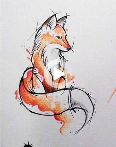 Tatouage De Renard Aquarelle Artsy Fox Tattoo Watercolour