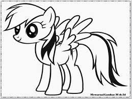Gambar Untuk Mewarnai Little Pony Adzka