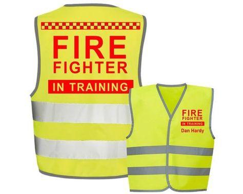 Fire Fighter Kids,Childs Hi-Vis Safety Vest Jacket High Visibility Viz,Costume,Fancy Dress - FREE personalisation#childs #costume #dress #fancy #fighter #fire #free #high #hivis #jacket #kidschilds #personalisation #safety #vest #visibility #vizcostumefancy