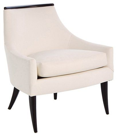 Boomerang Accent Chair White Leather 1 500 00 Living Room