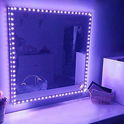 Amazon Com Rgb Led Vanity Mirror Lights Kit For Makeup Dressing Table Vanity Set 16 4ft Flexible Mu Mirror With Lights Dressing Table Vanity Mirror Led Vanity