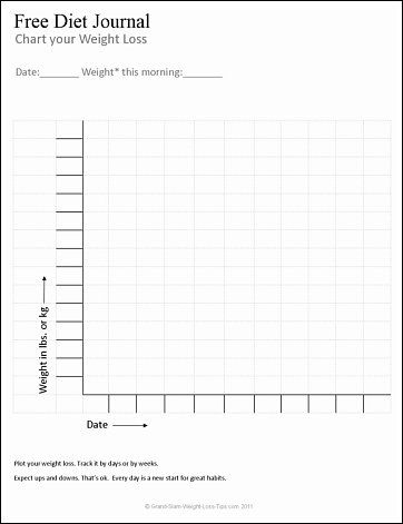 I made this free diet journal page to help people track their weight - weight loss chart template