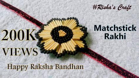 How to Make a Matchsticks Rakhi.unique Rakhi for Raksha Bandhan