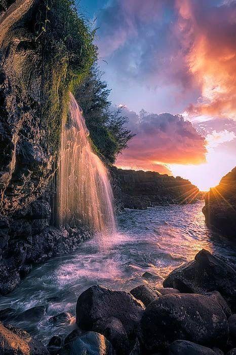 Waterfall Beautiful Landscapes Waterfall Scenery