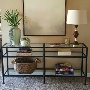 Tanner Long Console Table In 2020 Long Console Glass Table Decor Console Table Decorating