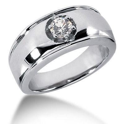 0 50 Ct Solitaire Diamond Men S Ring Platinumweddingringsforwomen Rings For Men Fine Diamond Jewelry Men Diamond Ring