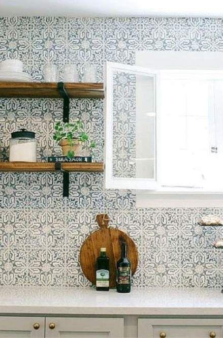 46 Chic Modern Farmhouse Kitchen Decor Ideas In 2020 Marokkanischer Fliesenspiegel Kuchenfliesen Kuchenboden