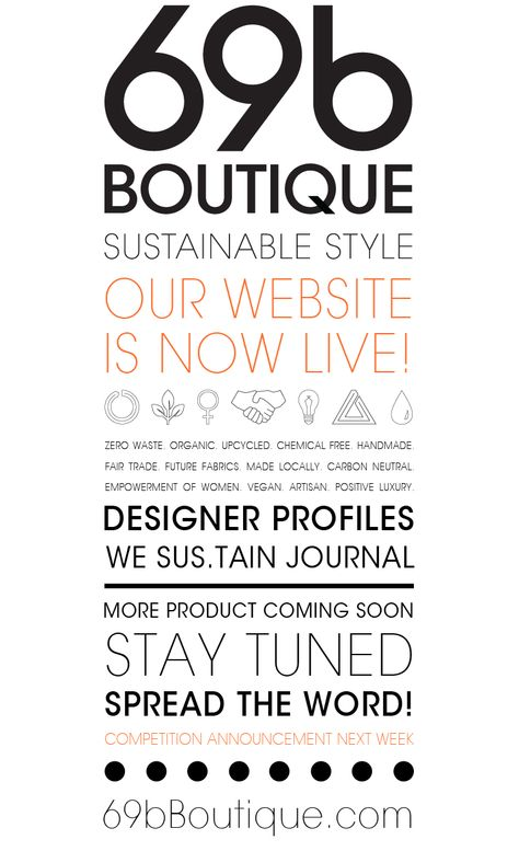 5ea9087a6f53 Guess What ! 69bBoutique.com is finally live! Check it out and let us know  what you think. Hurrah!! P.S. Competition announcement next week. Stay Tuned  …