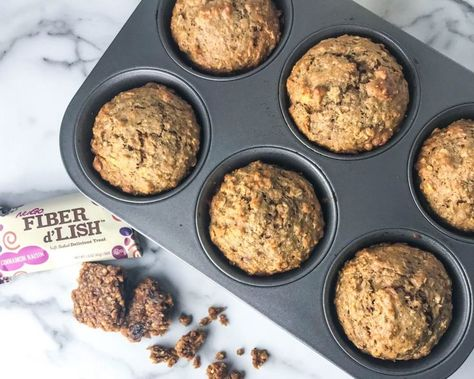 Photo of High Fiber Cinnamon Oatmeal Raisin Breakfast Muffins – Chelsea Dishes